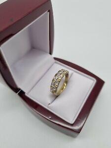 Gelbgold Ring Memory Diamant/Brillant