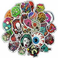 50Pcs Lot Horror Skull Halloween Sticker Skateboard Luggage Guitar Decals Balss