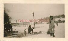 Foto, Flak Rgt.2/61, Rückzug, 1.Etappe Gschatsk, Feuerholz 2, 1941/42;  5026-180