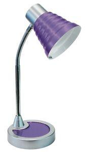 Table Lamp Light Modern Design Plastic Purple