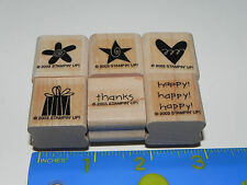 Stampin Up Teeny Tinies Stamp Set of 6 Gift Heart Flower Star happy thanks