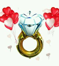 """32"""" Wedding Ring Balloon Engagement Party Decorations"""
