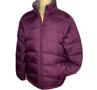 Lands End Puffer Jacket Goose Down Insulated Full Zip Plum Women Sz Small 6-8