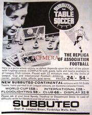 1970 'SUBBUTEO' Table Soccer Game ADVERT #4 - Very SMALL Vintage Print AD