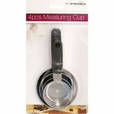New 4 Pcs Measuring Cups Stainless Steel Vintage Handle Commercial Kitchen Set