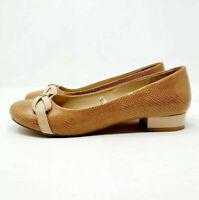 Dunnes UK 7 EU 41 Beige / Tan Shoes Low Heel Faux Patent Leather