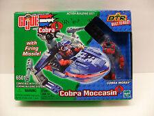 """2003 Hasbro 6501 GIJOE Vs Cobra """"Moccasin Moray"""" Speed Boat Building Set Sealed"""