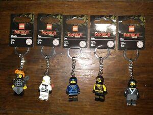 LEGO The Ninjago Movie Misako Cole Zane Nya Jay Keychains  New W/ Tags