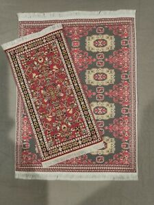Dollhouse Miniature Rug Carpets Set of 2