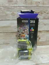 Epson 215 Black and Color Ink Cartridges C/M/Y/ 2-Pack Exp 05/2023 OPEN BOX READ