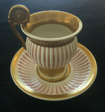 Antique Royal Vienna Hand Painted Golden Baroque Cup and Saucer