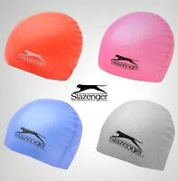 Boys Girls Slazenger Lightweight Silicone Swimming Cap Swimwear