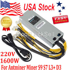 1600W BTC APW3++ PSU Mining Power Supply For Bitcoin BTC Antminer S7 S9 L3 D3 US