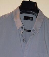 UU Uniqlo Undercover Gray Hidden Placket Button-Front Shirt Sz. L - Slim