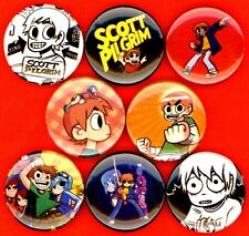 "Scott Pilgrim 8 NEW 1"" buttons pins badge comic book STOCKING STUFFER"