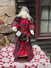 Large Santa Figurine! Unusual, Beautiful Collectible USA Handmade 🎅🏻🎄