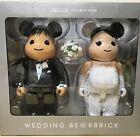 Medicom Plus Be@rbrick 2016 Exhibition 400% Wedding Couple Bearbrick Set 2pcs