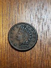 1863 Civil War Token Cwt Indian head, Not one Cent