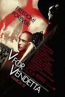 V For Vendetta Original Cartel de Película - una Cara Advance Estilo B