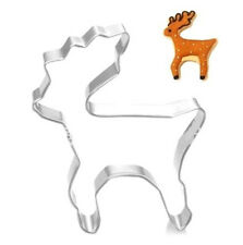 Stainless Steel Cookie Cutter X'mas Deer Cakes Biscuts Cutter Fondant DIY Mold A