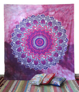 Large Mandala Wall Hanging Hippie Bohemian Tapestry Ethnic Cotton Wall Decor Art