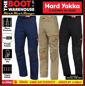 Hard Yakka Y02202 LEGENDS Cargo Work Pants  Heavy Duty, All Sizes, 100% Cotton!