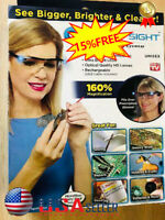 NEW Mighty Sight Led Magnifying Eyewear Glasses Original Box As Seen on TV #114