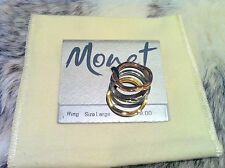 NEW MONET TRIPLE RING MULTICOLOR FASHION JEWELRY SIZE LARGE