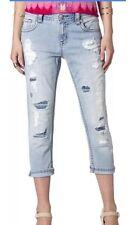 NWT MISS ME  Boyfriend Jean Capri Crop Style JB5151P90 Size 26 Light Wash Womens