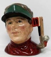 Royal Doulton Small Character Jug Modern Golfer Rare Prototype Red Shirt