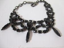 JOOMI LIM Black Blue Crystal Spike Bracelet NWOT $195