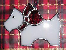 Vitraux Scottie Dog Suncatcher HANDMADE IN ENGLAND Décoration de Noël
