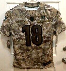 Nike Salute To Service Cincinnati Bengals 18 AJ Green Jersey AH4936 336 Size L