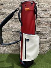 NEW RARE Stitch SL1 Golf Stand Bag USA RED WHITE BLUE Leather