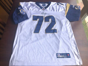 100% Authentic St. Louis Rams #72 Chris Long Reebok  Stitched Jersey Size 54