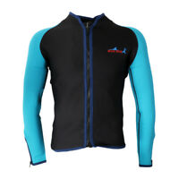Men 2mm Wetsuit Jacket Neoprene Long Sleeve Diving Surfing Top Swimsuit Swimwear