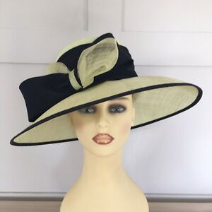 Wedding Hat Races Special Occasion Lime Green & Navy By Cappelli Condici