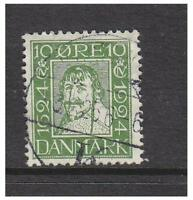 Denmark - 1924, 10 ore Green, King Christian IV stamp - G/U - SG 218A