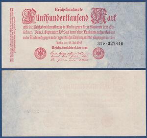 500000 Mark 1923 Firmendruck KASSENFRISCH / UNC ,  Ro.91 b / P.92