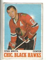 1970-71 O-Pee-Chee Hockey Card #20 Stan Mikita Chicago Black Hawks EX.
