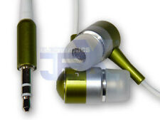 High Quality Green Silver Aluminum Earbuds Earphones Headphones For Ipod MP3/MP4