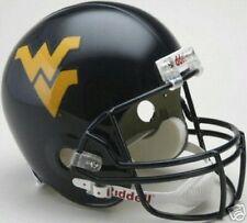 West Virginia Full Size Deluxe Rep Riddell Helmet New