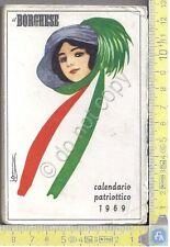 Calendarietto - Calendar - Il Borghese - Calendario Patriottico - 1969