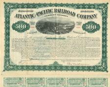 Atlantic and Pacific Railroad Company - $500