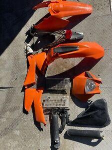 KTM Plastics OEM Graphics Shrouds Orange Fender Assembly head light