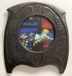 Royal Zinn Art Nouveau Jugendstil Metal Photo Frame, original
