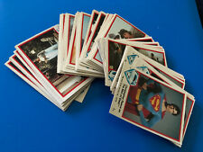 1978 TOPPS/TREBOR UK SUPERMAN MOVIE COMPLETE SET OF 66