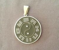 Ciondolo YING YANG - FORZA VITALE EQUILIBRIO SPIRITUALE - in acciaio