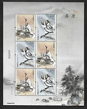 China 2018-15 Qu Yuan Mini S/S Stamp Histry People 屈原