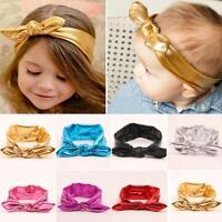 Kids Head Wrap Infant Gold Rabbit Ear Bowknot Hairband Baby Headband Turban